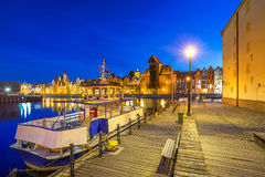 Architecture of the old town in Gdansk Stock Photos