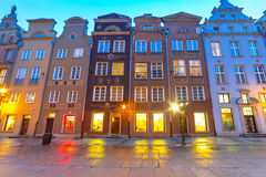 Architecture of old town in Gdansk. Poland Royalty Free Stock Photos