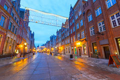 Architecture of old town in Gdansk Stock Image