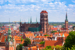 Architecture of the old town in Gdansk Royalty Free Stock Photos