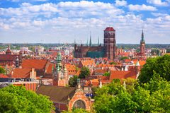 Architecture of the old town in Gdansk Royalty Free Stock Photography