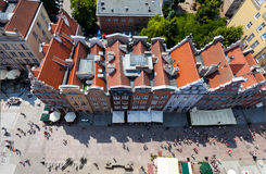 Architecture of old town in Gdansk, Poland Royalty Free Stock Images