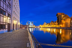 Architecture of the old town in Gdansk Stock Image