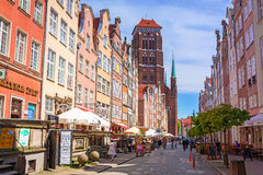 Architecture of old town in Gdansk. GDANSK, POLAND - MAY 11, 2015: Architecture of old town in Gdansk, Poland. Baroque architecture of the Gdansk is one of the Royalty Free Stock Images
