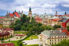 Architecture of the old town in Lublin. Poland Stock Photo