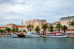 Architecture of the Old Town in Split, Croatia Royalty Free Stock Photo