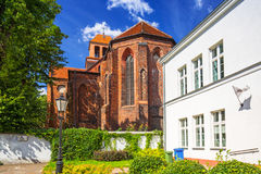 Architecture of the old town of Tczew. Poland Royalty Free Stock Photo