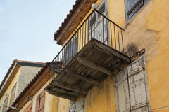 Architecture of an old traditional house at the old city of Nafplio in Greece. Stock Photo