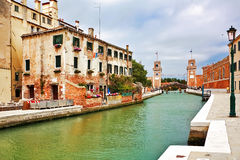 The architecture of the old Venice Royalty Free Stock Photography