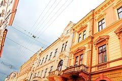 Architecture on Olga Kobylianska Street, Chernivtsi, Ukraine Stock Photo