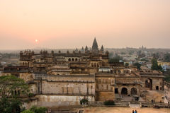 Architecture of Orchha's Palace, India. Stock Image