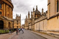 Architecture of Oxford, England, United Kingdom royalty free stock image