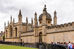 Architecture of Oxford, England, United Kingdom. OXFORD, ENGLAND  - JULY 10, 2016: Hertford College, Oxford, England. Oxford is known as the home of the Royalty Free Stock Image