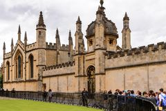 Architecture of Oxford, England, United Kingdom. OXFORD, ENGLAND  - JULY 10, 2016: Hertford College, Oxford, England. Oxford is known as the home of the Stock Photography