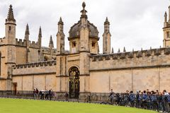 Architecture of Oxford, England, United Kingdom. OXFORD, ENGLAND  - JULY 10, 2016: Hertford College, Oxford, England. Oxford is known as the home of the Stock Images