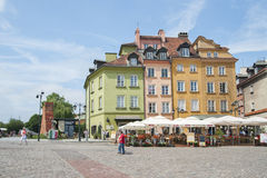Architecture Palace Square in the heart of Warsaw. Stock Images