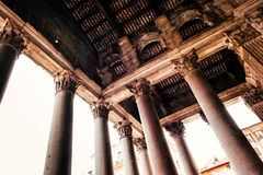 Architecture of the Pantheon in Rome Royalty Free Stock Photo
