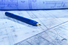 Architecture paperwork Royalty Free Stock Photo
