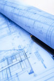 Architecture paperwork Stock Images