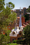 Architecture par Antoni Gaudi à Barcelone, Espagne Image libre de droits