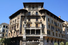 Architecture par Coppedè à Rome Photo libre de droits