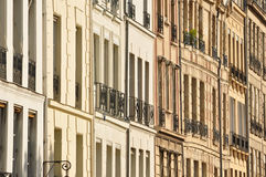 Architecture of Paris. A wall of windows in Paris, France Stock Photos