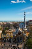 Architecture of Park Güell, on March 08, 2013 in Barcelona, Spain Stock Photo