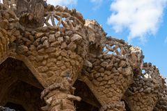 Architecture of Park Güell, on March 08, 2013 in Barcelona, Spain Stock Image