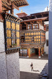 Architecture of Paro Dzong Royalty Free Stock Image