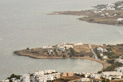Architecture of Paros island in Greece. View from mountain. Stock Photos