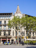 Architecture on the Passeig de Gracia in Barcelona Stock Images