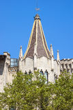 Architecture on the Passeig de Gracia in Barcelona Royalty Free Stock Photos