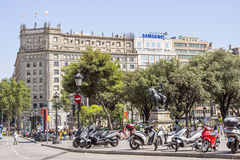 Architecture on the Passeig de Gracia in Barcelona Royalty Free Stock Photo