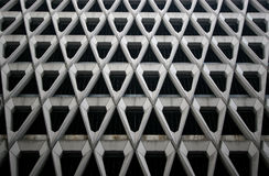 Architecture pattern. Interesting pattern on a modern house royalty free stock image