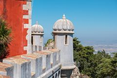 Architecture of Pena National Palace. Sintra. Portugal Royalty Free Stock Photos