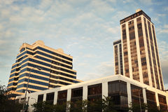 Architecture of Peoria. Twin Towers on the right Royalty Free Stock Photography