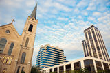 Architecture of Peoria. Twin Towers on the right Royalty Free Stock Photo