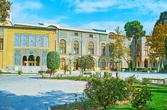 Architecture persane de complexe de Golestan, Téhéran Image stock