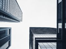 Architecture perspective Modern Building Glass facade Office Business Background royalty free stock image