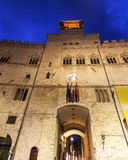 Architecture of Perugia at night Stock Photos