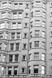 Architecture of Philadelphia, facade of a building, historic district, monochrome Royalty Free Stock Photography