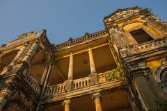 Architecture Phnom Penh colonial, Cambodge Photo stock