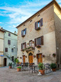 Architecture of Pienza, Italy Stock Images
