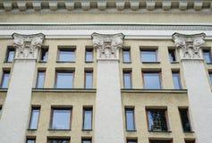 Architecture Pilaster composite style, Corinthian columns Stock Photo