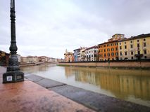 Architecture in Pisa. Artistic view in vintage vivid colours. Stock Photography