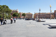 Architecture of Place Massena, general view, Nice Royalty Free Stock Photos