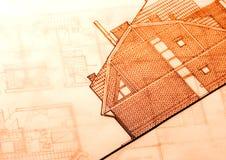 Architecture plan   Stock Photo