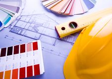 Architecture plan      Royalty Free Stock Images