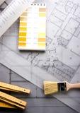 Architecture plan Royalty Free Stock Photos