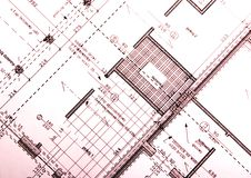 Architecture plan Royalty Free Stock Photography